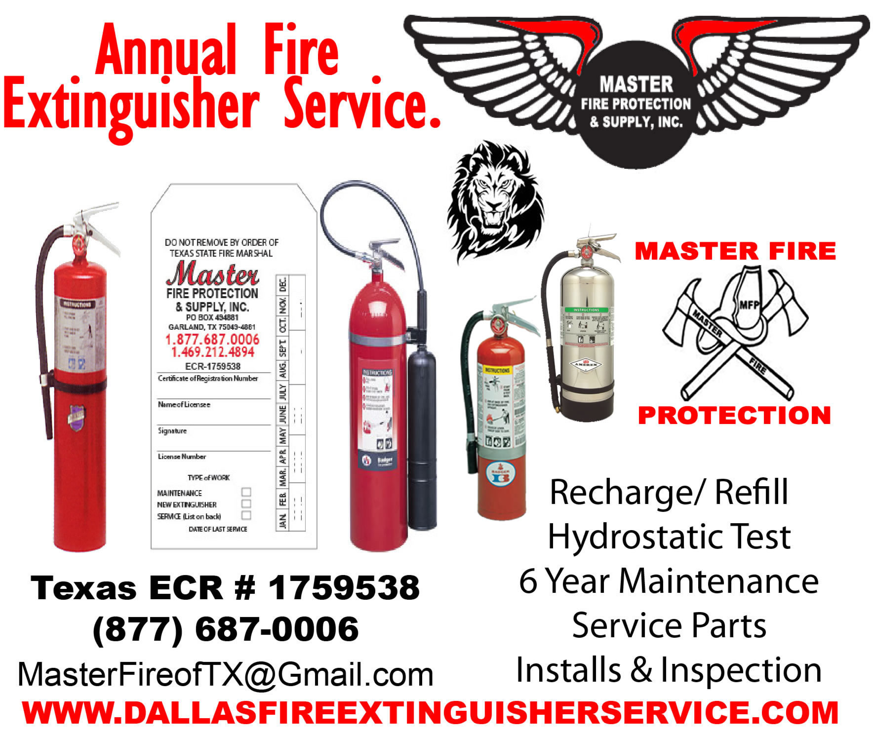 Dallas Fire Extinguisher Service Fire Extinguisher Inspection 469