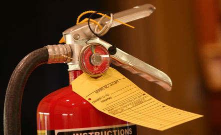 fire extinguisher inspection tag in dallas