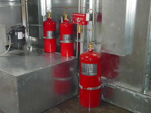 dallas fort worth industrial paint spray booth fire suppression system inspection installation repairs